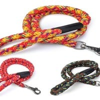 Large Dog Traction Rope Big Dog Leash high-quality nylon Woven large pet rope product for dogs Large Dog Leash