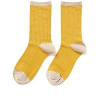 Hansel From Basel Silk colour-block crew socks