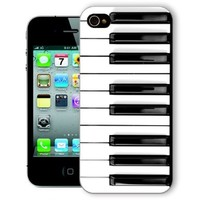 ChiChiC Iphone Case, i phone 4 4g 4s case,Iphone4 iphone4g iphone4s covers, plastic cases back cover skin protector,piano key black white