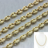 """Men's 14k Solid Yellow Gold 26"""" Puffed Mariner Gucci 4mm Link Chain Necklace"""