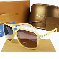 GUCCI Woman Men Fashion Summer Sun Shades Eyeglasses Glasses Sunglasses