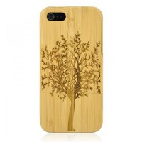Hand Carved Bamboo iPhone 5 Case - Tree