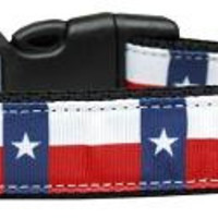 Texas Flag Nylon Dog Collar Large