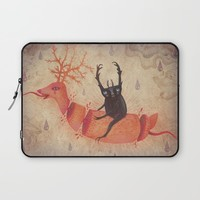 And when the heavens opened Laptop Sleeve by Vladimir Stankovic