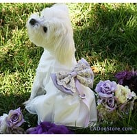 Lilac Wedding Dog dress ring bearer, pet Wedding, Proposal idea