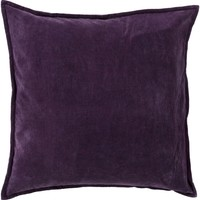 Cotton Velvet Throw Pillow Purple