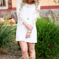 ONCE UPON A TIME TUNIC DRESS IN WHITE