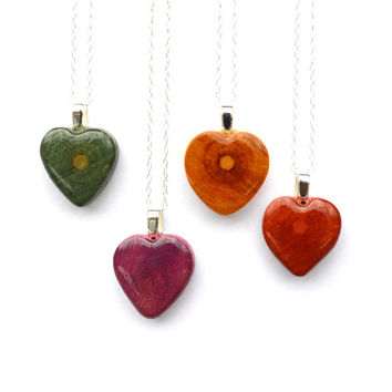 Heart necklace Valentines gift for her Eco friendly tree branch heart necklace Starlight Woods
