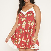 Plus Size Lace-Trim Cami Dress | FOREVER 21 - 2000168613