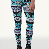 Blue & Purple Aztec Leggings