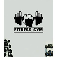 Fitness Gym V3 Quote Health Work Out Decal Sticker Vinyl Art Wall Room Decor Teen Motivation Inspirational Girls Lift