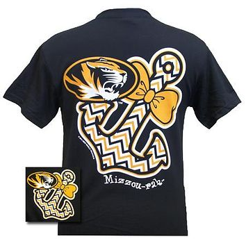 Missouri Tigers Mizzou Chevron Anchor Bow Bright T-Shirt