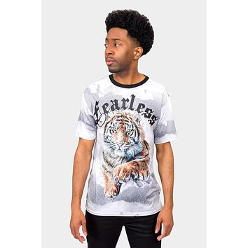 Embossed Fearless Tiger T-Shirt
