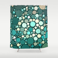 teal dots Shower Curtain by Sylvia Cook Photography