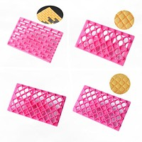 DIY Cake Chocolate Mold Strip Grid Impression Printing Biscuits Cookies Cutter Embosser Fondant Gum Paste Decoration Tools