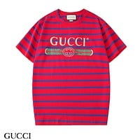 GUCCI New Cotton Striped Casual Half Sleeve T-Shirt