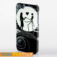 Love The Nightmare Before Christmas  Jack And Sally iPhone 4/4S, 5/5S, 5C Series Full Wrap Case