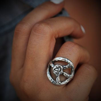 Peace Sign Ring