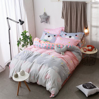 Princess Fresh Bohemia 4pc Quilt Mattress Bed Linen Pillow Queen Size 100% Cotton Bedding Free Shipping  Warm and Comfortable