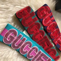 GUCCI Sequin Guccification headband