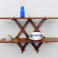 Accordion Peg Rack Shelf