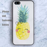 Pineapple cartoon bow iPhone 5/5S case Ipod Silicone plastic Phone cover Waterproof