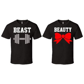 Beast and Beauty Couple T-shirt