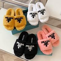 Prada sutumn and winter wool slippers shoes 1