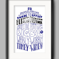Printable Doctor Who Wibbly Wobbly Concept of Time Poster