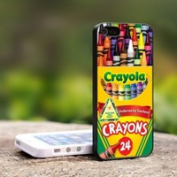 Melting Crayola Crayons - For iPhone 4,4S Black Case Cover