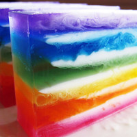 Hippy Trippy Rainbow Tie Dye Soap Bar