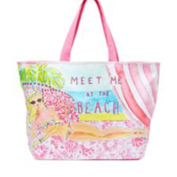 Beach Tote Bag - Meet Me At The Beach - Lilly Pulitzer