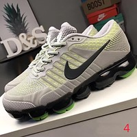 Nike Air Max New Popular Men Personality Shock Absorption Breathable Air Cushion Running Sport Shoe Sneakers Grey/Yellow I-CQ-YDX