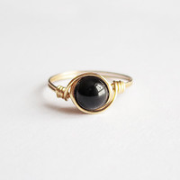 Black Obsidian Ring