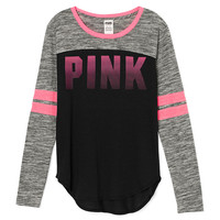 Long Sleeve Curve Hem Tee - PINK - Victoria's Secret