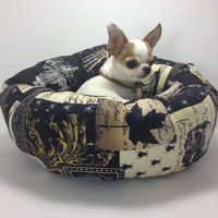 Nevermore Raven Edgar Poe  Round Pet Bed – Group One Dog Gallery®