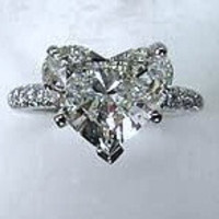 2.35ct Heart Shape Diamond Engagement Ring 900,000 GIA certified 18kt white Gold JEWELFORME BLUE