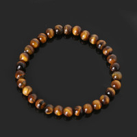 Tiger Eye Love Brand Buddha Bracelets Bangles Elastic Rope Chain Natural Stone Friendship Bracelets For Women and Men Jewelry