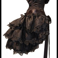 Gothic Burlesque Steampunk Bustle Skirt TO the by lovechildboudoir