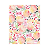 Peaches Art Nursery Print