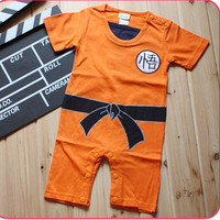 Dragon Ball Goku practicing His Martial Arts Comedy Styling boys Romper short sleeve summer baby clothes newborn baby costume
