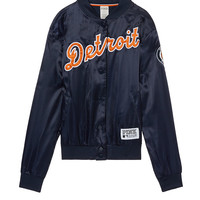 Detroit Tigers Satin Bomber - PINK - Victoria's Secret