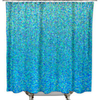 Blue Raspberry by Catherine Holcombe Fabric Shower Curtain