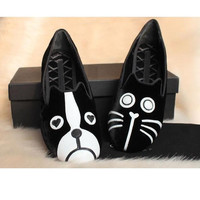 Korean Loafer Suede Ballerina Shoes One cat/one dog US5-8 Hot