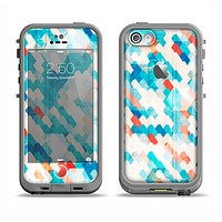The Modern Abstract Blue Tiled Apple iPhone 5c LifeProof Fre Case Skin Set