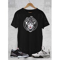 Air Jordan 4's Retro 4's Sneakers Medusa Graphic Tee Unisex T Shirt