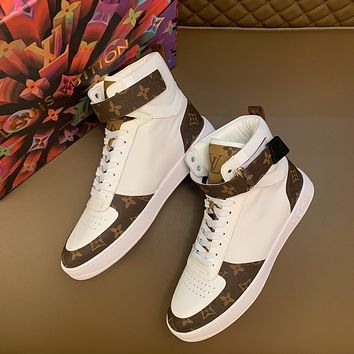 lv louis vuitton men fashion boots fashionable casual leather breathable sneakers running shoes 639