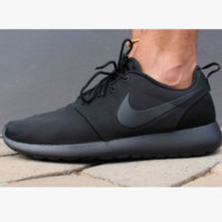NIKE Women Men Running Sport Casual Shoes Sneakers Full Black