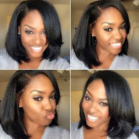 Short Wigs for Black Women Synthetic Wig Black Straight Female Hair Synthetic Short Hair Cheap  Wigs for Women Sale