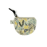 Richmond Half Moon Pouch in First Light Metallic Garden Linen Canvas